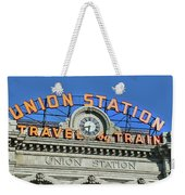Union Station Sign Weekender Tote Bag