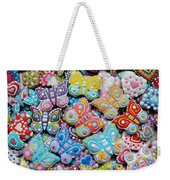 Unique Colorful Honey Cookies , Butterfly Shaped  Weekender Tote Bag