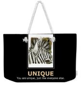 Unique Motivational Poster Weekender Tote Bag by Darren Cannell