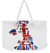 United Kingdom Typographic Kingdom Weekender Tote Bag