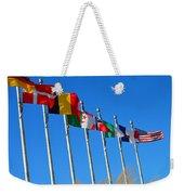 United We Stand Flags Art Weekender Tote Bag