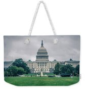 United States Capitol Building On A Foggy Day Weekender Tote Bag
