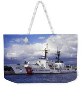 United States Coast Guard Cutter Rush Weekender Tote Bag by Michael Wood