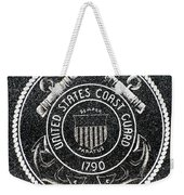 United States Coast Guard Emblem Polished Granite Weekender Tote Bag