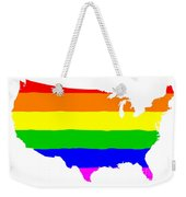 United States Gay Pride Flag Weekender Tote Bag