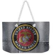 United States Marines Logo On Riveted Steel Weekender Tote Bag