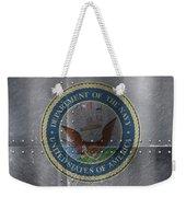 United States Navy Logo On Riveted Steel Boat Side Weekender Tote Bag