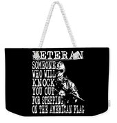 United States Proud Veteran American Weekender Tote Bag