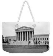 United States Supreme Court Building Bw Weekender Tote Bag