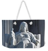 United States Supreme Court, The Contemplation Of Justice Statue, Washington, Dc 3 Weekender Tote Bag