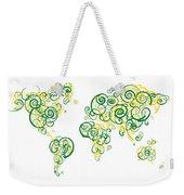 University Of Alberta Colors Swirl Map Of The World Atlas Weekender Tote Bag