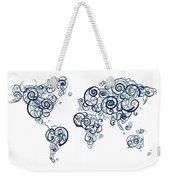 University Of British Colombia Colors Swirl Map Of The World Atl Weekender Tote Bag