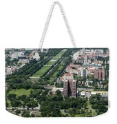 University Of Chicago Booth School Of Business And Midway Plaisance Park Aerial Photo Weekender Tote Bag
