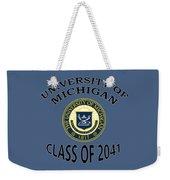 University Of Michigan Class Of 2041 Weekender Tote Bag