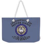 University Of Notre Dame Future Graduate Weekender Tote Bag