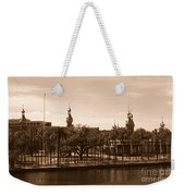 University Of Tampa With River - Sepia Weekender Tote Bag