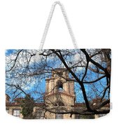 University Tower Mason Hall - Pomona College - Framed By Trees Weekender Tote Bag