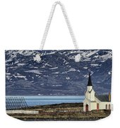 Unjarga-nesseby Church In Arctic Norway Weekender Tote Bag