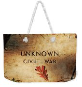Unknown Civil War Weekender Tote Bag