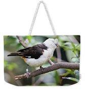 Unknown White Bird On Tree Branch Weekender Tote Bag
