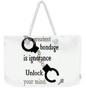 Unlock Your Mind Weekender Tote Bag