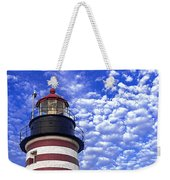 Unmistakable In Any Weather - West Quoddy Head Lighthouse Weekender Tote Bag