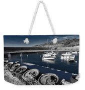 Unplugged At The Harbour - Toned Weekender Tote Bag