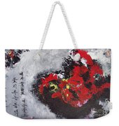 Unread Poem Black And Red Paintings Weekender Tote Bag