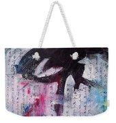 Unread Poem Black And White Paintings Weekender Tote Bag