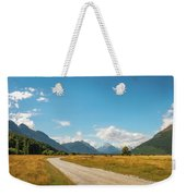 Unspoiled Alpine Scenery From Kinloch-glenorchy Road, Nz Weekender Tote Bag