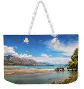 Unspoiled Alpine Scenery In Kinloch Wharf, New Zealand Weekender Tote Bag