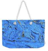 Untitled-weathered Wood Design In Blue Weekender Tote Bag