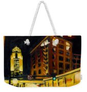 Untitled In Red And Gold Weekender Tote Bag