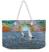 Unto The Sunset We Sail My Love Weekender Tote Bag