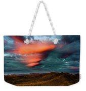 Unusual Clouds Catch Sunset Weekender Tote Bag