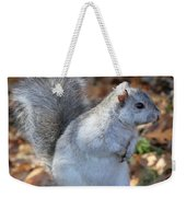 Unusual White And Gray Squirrel Weekender Tote Bag