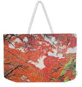 Up Close Flamboyant Weekender Tote Bag