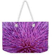 Up Close On Musk Thistle Bloom Weekender Tote Bag