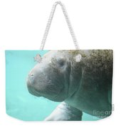 Up Close With A Manatee Weekender Tote Bag