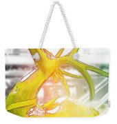 Up On The Rooftop Yellow Weekender Tote Bag