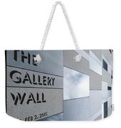 Up The Wall-the Gallery Wall Logo Weekender Tote Bag