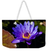 Upbeat Violet Elegance - The Beauty Of Waterlilies  Weekender Tote Bag