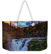 Upper Falls Letchworth State Park Weekender Tote Bag