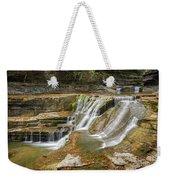 Upper Gorge Falls Of Enfield Glen In Treman State Park Weekender Tote Bag