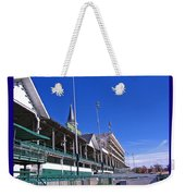 Upper Level Viewing Stands At Churchill Downs Weekender Tote Bag