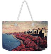 Upper Manhattan Along The Hudson River Weekender Tote Bag