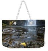 Upper North Falls In Autumn Weekender Tote Bag