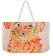 Upright Puppy Weekender Tote Bag