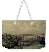 Upstream -bridge D.luis I-oporto Weekender Tote Bag