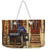 Upstairs Jazz Bar And Grill Montreal Weekender Tote Bag by Carole Spandau
